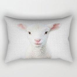 Lamb - Colorful Rectangular Pillow