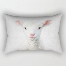 Lamb - Colorful Rectangular Pillow