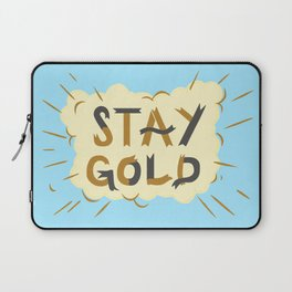 Stay Gold Print Laptop Sleeve