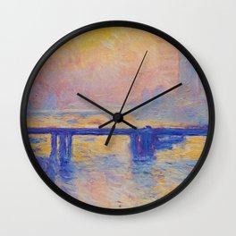 Claude Monet - Charing Cross Bridge 1903 Wall Clock