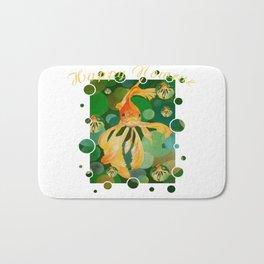 Happy Nowruz Persian New Year Goldfish In Green Sea Bath Mat