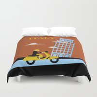 italy Duvet Covers featuring Italy by Laurel Natale
