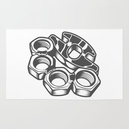 "Fashion Modern Design Print ""Brass Knuckles""! Rap, Hip Hop, Rock style and more Rug"