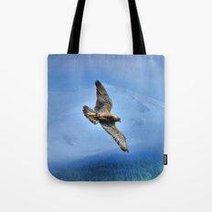 Peregrin Falcon Soaring Tote Bag