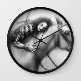 Pale Horse Wall Clock
