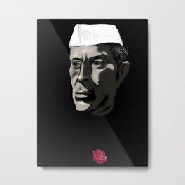 26 - Nehru & his Rose Metal Print