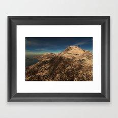 Mountain Eclipse Framed Art Print