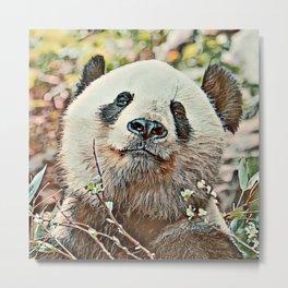 Toony Panda Metal Print