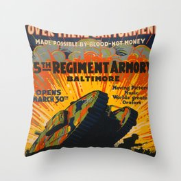 Vintage poster - Fifth Regiment Armory Throw Pillow