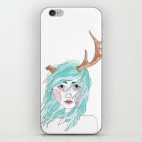 antler iPhone & iPod Skins featuring Antler by okayleigh