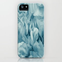Soft Baby Blue Petal Ruffles Abstract iPhone Case