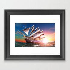 The Ship Framed Art Print