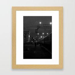 Five O'Clock Stop Framed Art Print