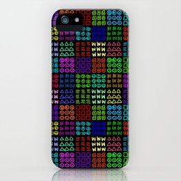 Aztec Wannabe (Black) iPhone Case