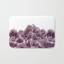 Amethyst Landscape - Gemstone - Geodes Crystals Bath Mat