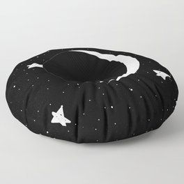 Moon Phases: Waxing Crescent Floor Pillow