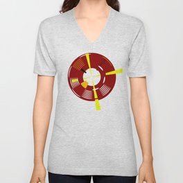 The Red Lighthouse As Seen From Above Unisex V-Neck