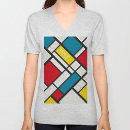 Mondrian De Stijl Unisex V-Neck