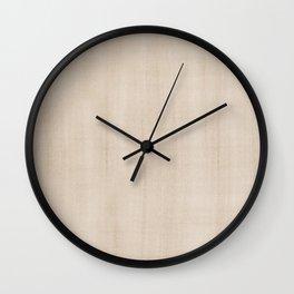 Pantone Hazelnut Dry Brush Strokes Texture Pattern Wall Clock