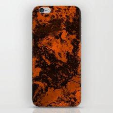Galaxy in Orange iPhone & iPod Skin