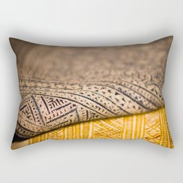 Magic Carpet Beautiful Embroidered East Asian Pattern Tapestry Rectangular Pillow