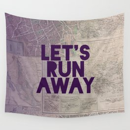 Let's Run Away x Map Wall Tapestry