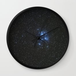 Peiades star cluster and a Orionid Meteor Wall Clock