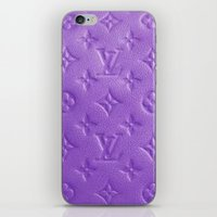 lv iPhone & iPod Skins featuring Purple LV  by Luxe Glam Decor