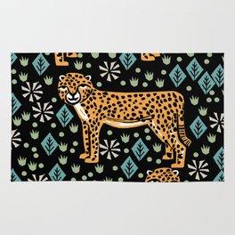 Cheetah safari art printmaking screen print giclee by andrea lauren Rug
