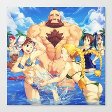 Beach Street Fighter Canvas Print