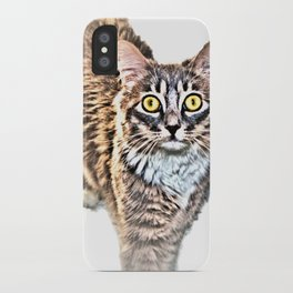 Cat With Amazing Eyes, Watching You iPhone Case