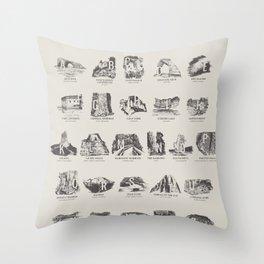National Parks Alphabet Throw Pillow