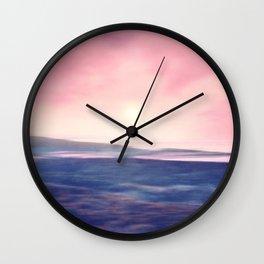 Pastel landscapes 01 Wall Clock