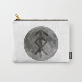 Viking bind rune 'Protection' on moon. Carry-All Pouch
