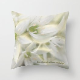 The Magic of Flowers Throw Pillow