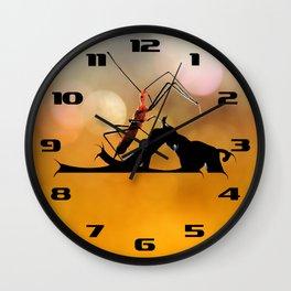 Assassin Bug Wall Clock