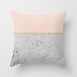 Soft Peach Meets Light Gray Concrete #1 #decor #art #society6 Throw Pillow
