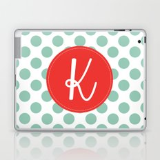 Monogram Initial K Polka Dot Laptop & iPad Skin