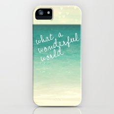 wonderful world iPhone (5, 5s) Slim Case