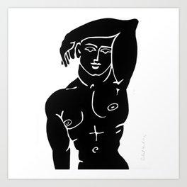MALE ADONIS BODY NUDE MODEL POSTER PRINT MAN Art Print