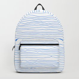 Blue mirage - a handmade pattern Backpack