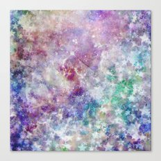 Rainbow Stars Space Galaxy Pattern Canvas Print