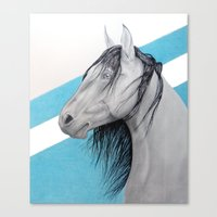mustang Canvas Prints featuring Mustang by Putrizia Pine