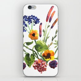 Watercolor floral bouquet. iPhone Skin