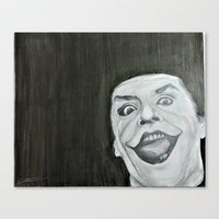 jack nicholson Canvas Prints featuring Jack Nicholson by Akeel Ford
