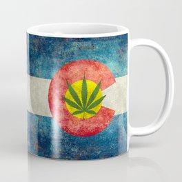 Colorado flag with leaf - Marijuana leaf that is! Coffee Mug