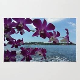 ORCHIDS ON BOARD Rug