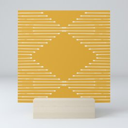 Geo / Yellow Mini Art Print