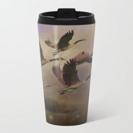 Wild Geese at Dawn Metal Travel Mug