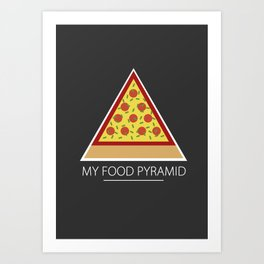 All you need is pizza Art Print